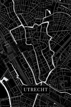 Map of Utrecht black