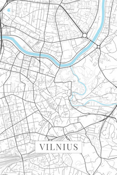 Map of Vilnius white