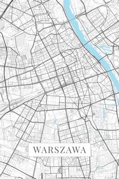 Map of Warzsawa white