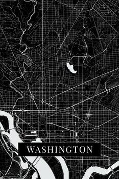 Map Washington black
