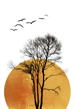 Illustration Winter Sunrise