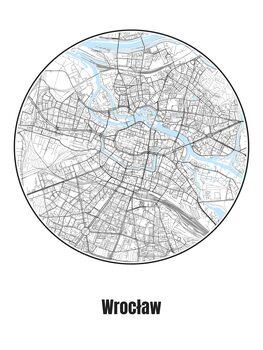 Map of Wrocław