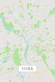 Map of York color