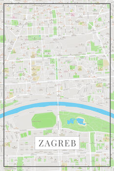 Map of Zagreb color