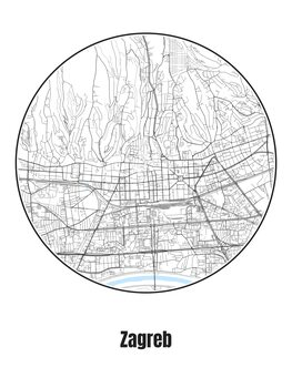 Map of Zagreb