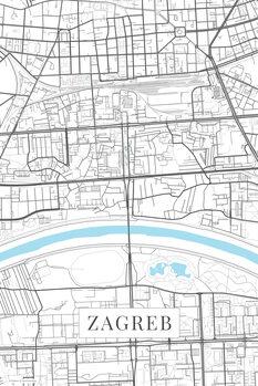 Map Zagreb white