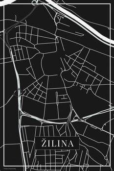 Map of Žilina black