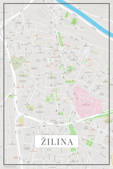 Map of Žilina color