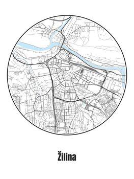 Map of Žilina