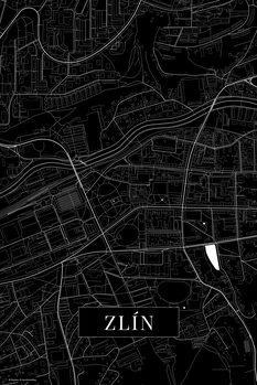 Map of Zlin black
