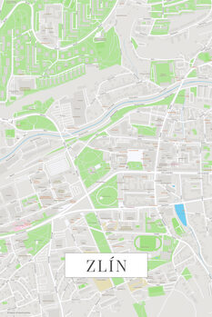 Map of Zlin color