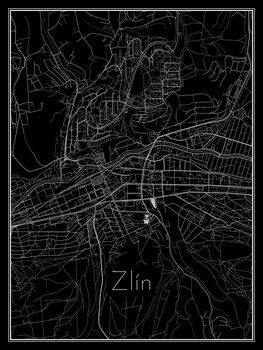 Map of Zlín