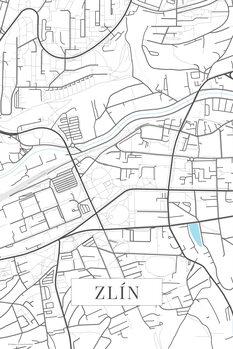Map of Zlin white