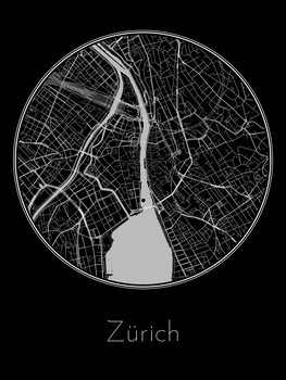 Map of Zürich