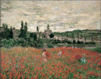 Poppy Field Near Vetheuil Reproduction d'art