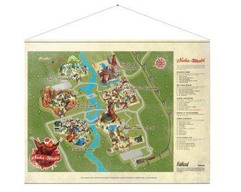 Poster de Têxteis Fallout - Map