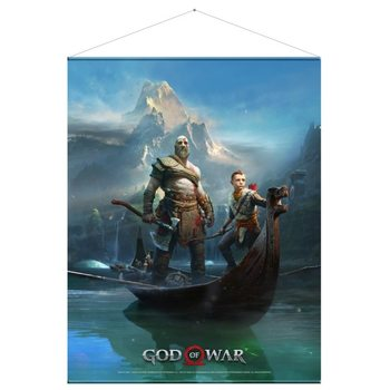 Poster de Têxteis  God of War - Father and Son