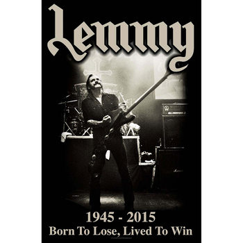 Poster de Têxteis Lemmy - Lived To Win
