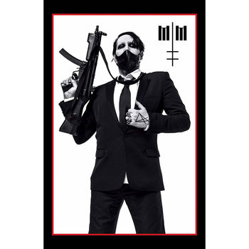 Poster de Têxteis Marilyn Manson - Machine Gun