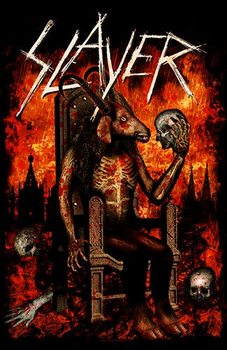 Poster de Têxteis  Slayer – Devil On Throne