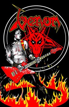 Poster de Têxteis Venom - Cronos In Flames