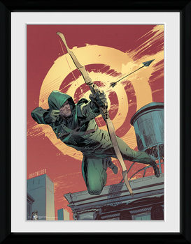 Arrow - Comic Red Poster encadré en verre