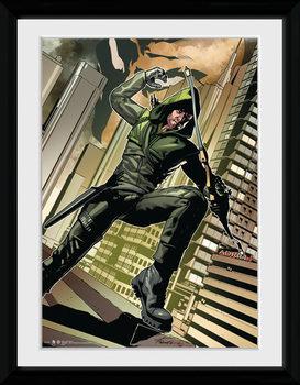Arrow - Cover Green Poster encadré en verre