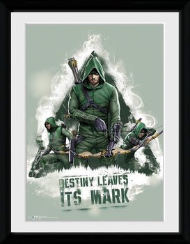 Arrow - Destiny Poster encadré en verre