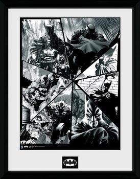 Batman Comic - Collage Poster encadré en verre