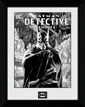 Batman Comic - Detective Poster encadré en verre