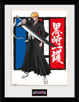 Bleach - Ichigo Poster encadré en verre