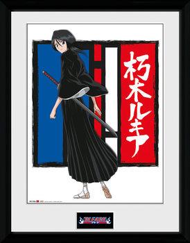 Bleach - Rukia Poster encadré en verre