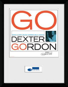 Blue Note - Dexter Poster encadré en verre