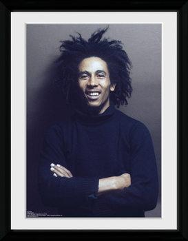 Bob Marley - Wall Poster encadré en verre