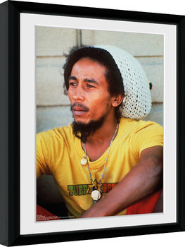 Bob Marley - Yellow Poster encadré
