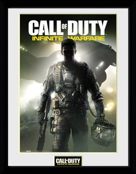 Call of Duty Infinite Warfare - Key Art Poster encadré en verre