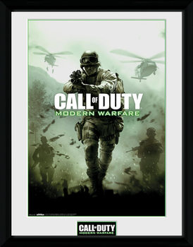 Call of Duty Modern Warfare - Key Art Poster encadré en verre