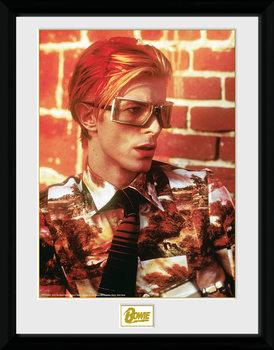 David Bowie - Glasses Poster encadré en verre