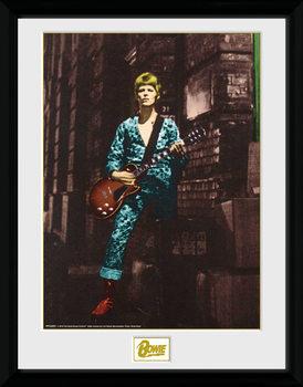 David Bowie - Street Poster encadré en verre