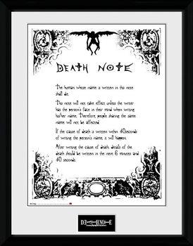 Death Note - Death Note Poster encadré en verre
