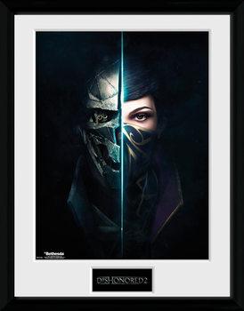 Dishonored 2 - Faces Poster encadré en verre