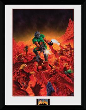 Doom - Classic Key Art Poster encadré en verre