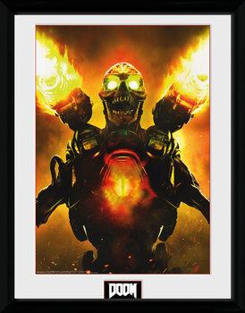 Doom - Key Art Poster encadré en verre