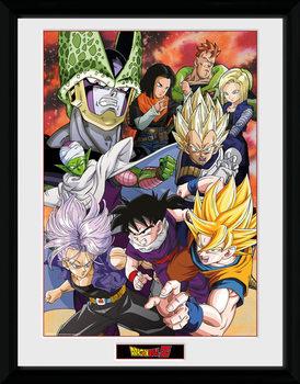 Dragon Ball Z - Cell Saga Poster encadré en verre