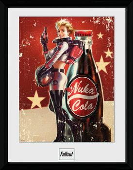 Fallout 4 - Nuka Cola Poster encadré en verre