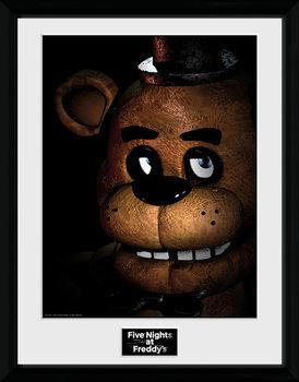 Five Nights at Freddys - Fazbear Poster encadré en verre