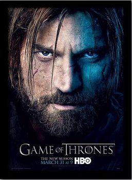 GAME OF THRONES 3 - jaime Poster encadré en verre