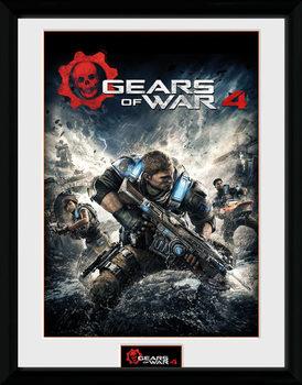 Gears of War 4 - Game Cover Poster encadré en verre