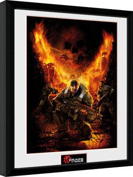 Gears of War - Gears 1 Poster encadré en verre