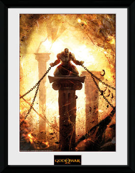 God of War - Kratos Chained Poster encadré en verre